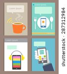 set of brochure design modern... | Shutterstock .eps vector #287312984