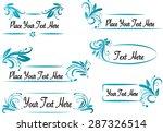 vector set  calligraphic design ... | Shutterstock .eps vector #287326514
