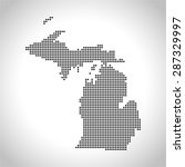 map of michigan | Shutterstock .eps vector #287329997