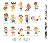 people on the beach    eps10