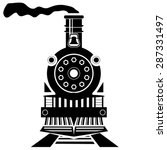 Vector Old Train Silhouette...