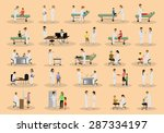 medical staff and patients... | Shutterstock .eps vector #287334197