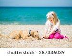 pretty little girl with blond... | Shutterstock . vector #287336039