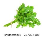 Parsley Bunch Isolated On Whit...