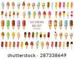ice cream mega set. 74 hand... | Shutterstock .eps vector #287338649