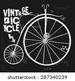 image of an old bicycle with a...   Shutterstock .eps vector #287340239
