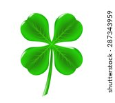 vector green clover isolated on ...   Shutterstock .eps vector #287343959