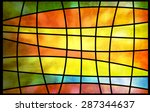 Abstract Multicolored Stained...