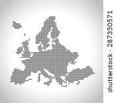 map of europe | Shutterstock .eps vector #287350571