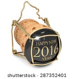 new year's champagne cork... | Shutterstock . vector #287352401