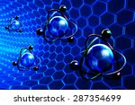 nanotechnology and molecular...   Shutterstock . vector #287354699