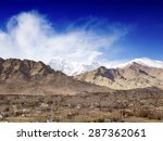 leh city and mountains in... | Shutterstock . vector #287362061