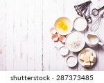 baking ingredients for pastry... | Shutterstock . vector #287373485