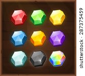set of colorful gems. vector...