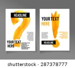 set of  creative cards with... | Shutterstock .eps vector #287378777