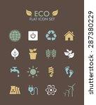 vector flat icon set   eco | Shutterstock .eps vector #287380229