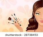 make up girl | Shutterstock .eps vector #28738453