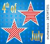 fourth of july. us flag. vector | Shutterstock .eps vector #287397251