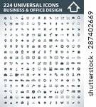 224 universal icons business... | Shutterstock .eps vector #287402669