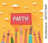 youth party concept. a lot of... | Shutterstock .eps vector #287417669