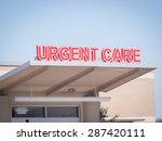 urgent care medical sign | Shutterstock . vector #287420111
