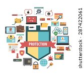 computer virus protection... | Shutterstock .eps vector #287422061