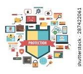 computer virus protection... | Shutterstock .eps vector #287422061