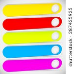 colorful  long  button  banner...