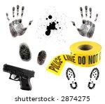 Crime Scene Items  Blood...