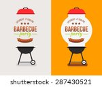 bbq or barbecue party... | Shutterstock .eps vector #287430521