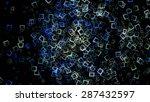 futuristic technology square... | Shutterstock . vector #287432597