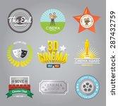 cinema movie club 3d film...   Shutterstock .eps vector #287432759