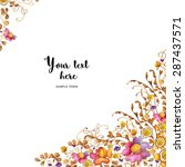 watercolor greeting card... | Shutterstock . vector #287437571