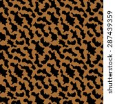 abstract animal print brown... | Shutterstock .eps vector #287439359