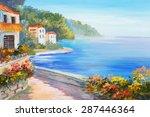 Oil Painting   House Near The...