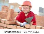 construction worker. portrait... | Shutterstock . vector #287446661