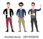 casual young men character ... | Shutterstock .eps vector #287450045