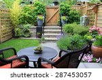 small townhouse garden with... | Shutterstock . vector #287453057