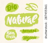 organic  natural  bio and farm... | Shutterstock .eps vector #287455361