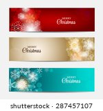 christmas snowflakes website... | Shutterstock . vector #287457107