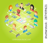 internet chat concept with... | Shutterstock .eps vector #287459621