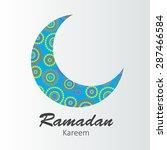 moon background for muslim... | Shutterstock . vector #287466584