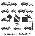 car crash and accidents icon... | Shutterstock .eps vector #287467901
