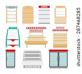 shop showcases  store shelves... | Shutterstock .eps vector #287468285
