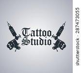 tattoo parlor template | Shutterstock .eps vector #287473055