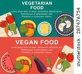 flat vegetarian and vegan foods ... | Shutterstock .eps vector #287476754