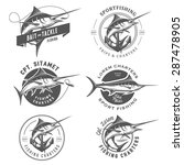 set of marlin fishing emblems ... | Shutterstock .eps vector #287478905