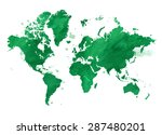 vector illustrated map of the... | Shutterstock .eps vector #287480201