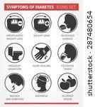 vector  infographic. symptoms... | Shutterstock .eps vector #287480654