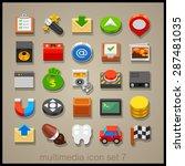 multimedia icon set. technology | Shutterstock .eps vector #287481035